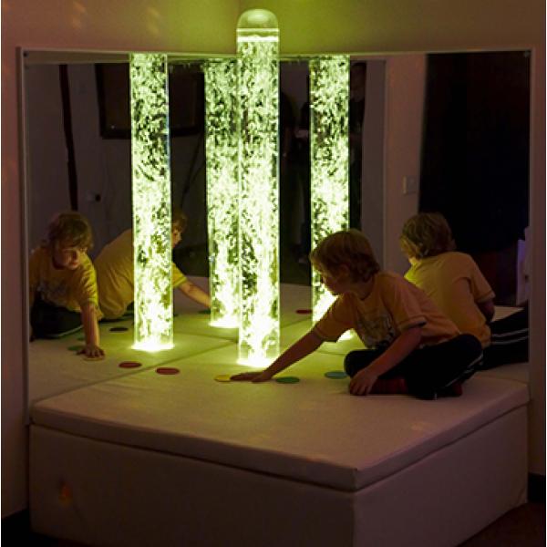 Interactive LED Bubble Tube Corner