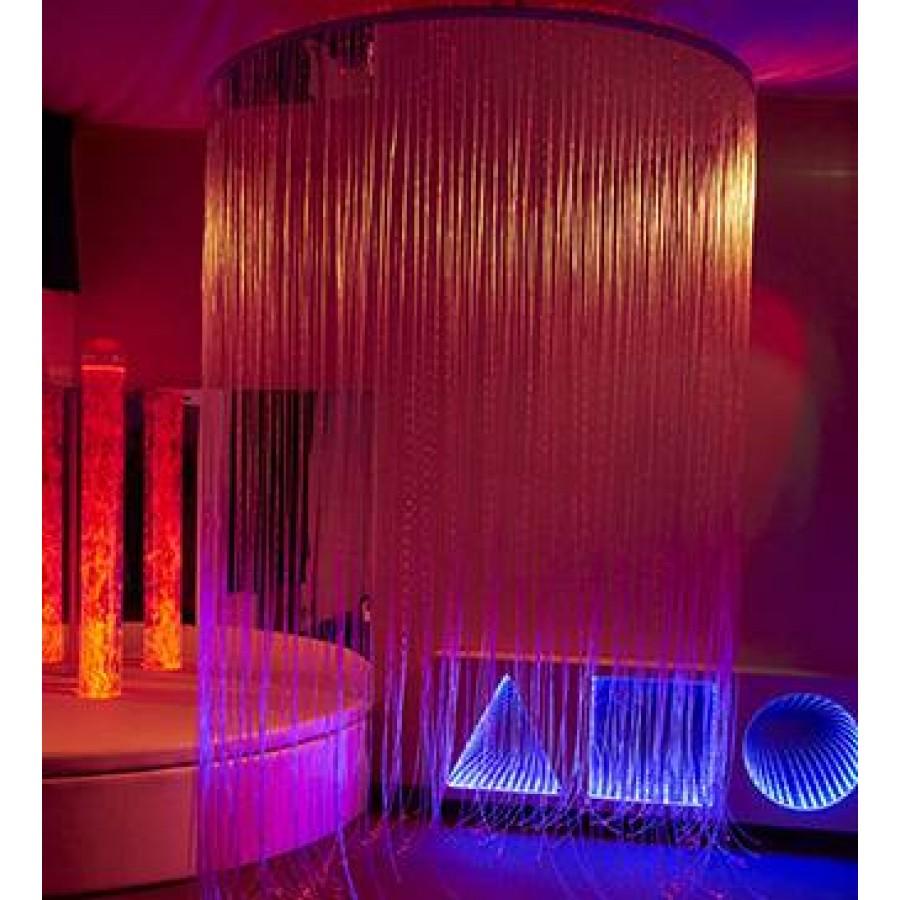 Circular LED Fibre Optic Shower
